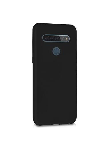 Microsonic Matte Silicone LG K41S Kılıf Siyah